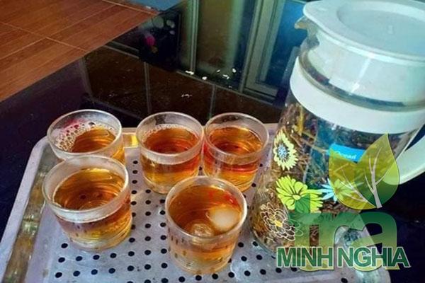 Hướng dẫn cách pha ấm trà Sơn Mật Hồng Sâm ngon