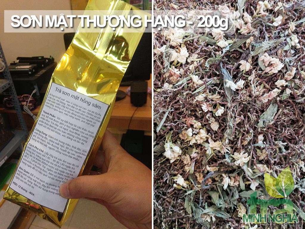 Trà Sơn Mật Hồng Sâm thượng hạng gói 200g