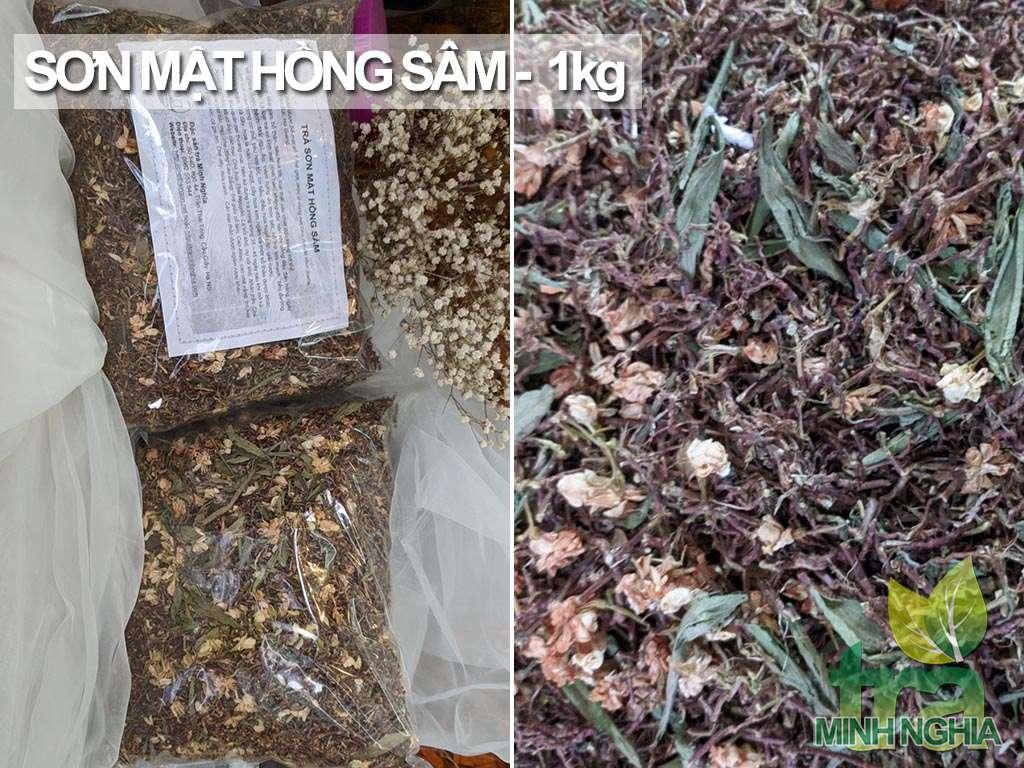 Trà Sơn Mật Hồng Sâm gói 1kg
