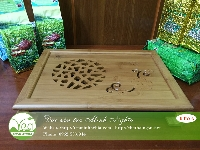Khay trà tre tổ ong KTV05