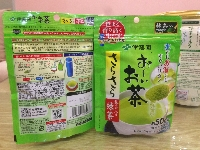 Bột trà xanh nguyên chất Nhật Bản mặt sau