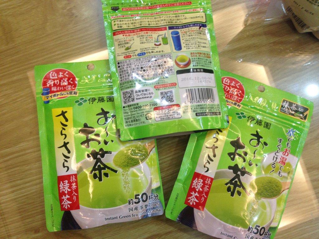 Bột trà xanh nguyên chất Nhật Bản mặt trước